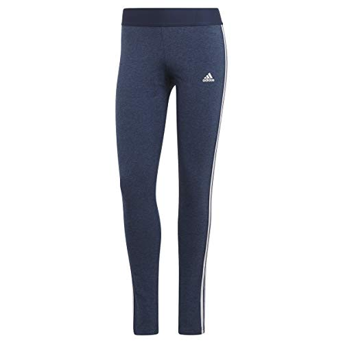 adidas Damen 3-stripes Leggings, Navy Equipaggio Mel Weiß, L EU