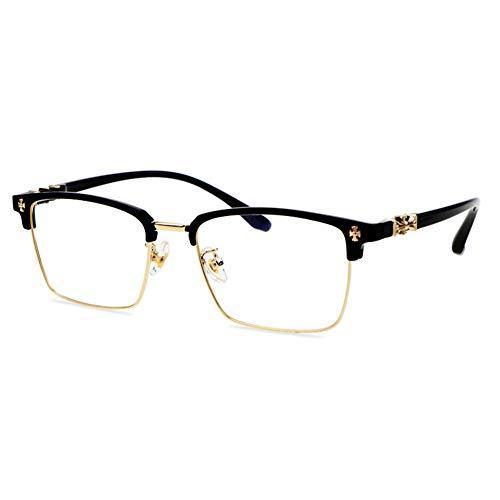 HQMGLASSES Fortschrittliche multifokale photochrome Outdoor-Lesebrille der Männer, rechteckige Business-Frames HD-Harz-Linsen-Sonnenbrillen / UV400-Diopter +1.0 bis +3.0,Gold,+1.25