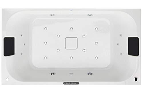 Gala flex center - Banera flex center hidromasaje+aire tactil 180x100