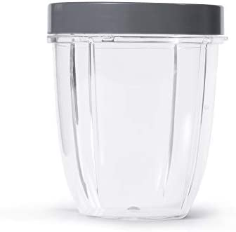 NutriBullet 18 Ounce Short Cup with Standard Lip Ring Clear Gray product image