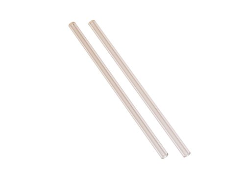 Straw Addict Starter Pack - 2 Clear Glass Drinking Straws - Perfect All-around Size (8.25 Inches x 9 Millimeters)