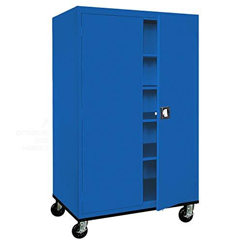 Sandusky Lee TA4R462472-06 Transport Series Mobile Storage Cabinet, Blue