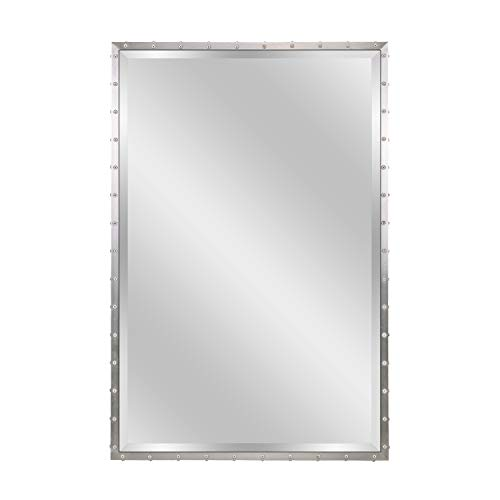 MOTINI Large Rectangle Beveled Mirror for Wall Bathroom Vanity Mirror Decorative Silver -
