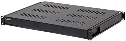 NavePoint 1U 19-Inch Sliding IT Network Cabinet Shelf 20.25
