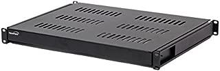 NavePoint 1U 19-Inch Sliding IT Network Cabinet Shelf For 600mm Depth Cabinet Enclosure Black