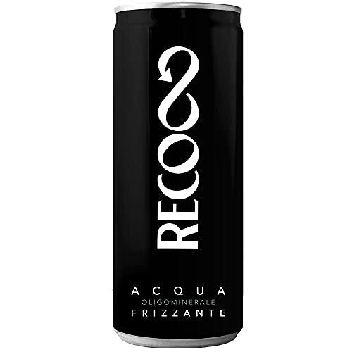 Acqua Minerale Frizzante Recoaro in Lattina | 24 Pezzi da 33 Cl | Plastic Free | Prodotto a Ridotto...