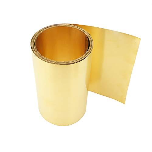 Yangliu Messing Folie Metalen Dunne Plaat, Geschikt Voor De Vervaardiging Van Precisie Instrumenten Scheepsonderdelen DIY(L:1m×W:200mm),Thickness:1mm