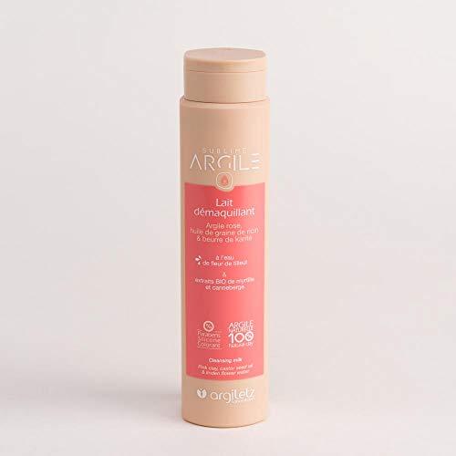 ARGILETZ Lot de 2 tubes 250ml de lait démaquillant à l'argile rose, huile de graine de ricin et beurre de karité distribué par DSTOCK60
