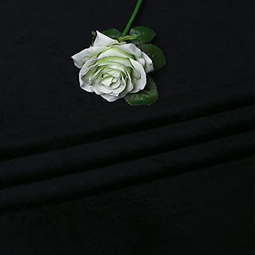 ZXC Tela De Terciopelo 150 cm De Ancho Tela Terciopelo EláStico 1m por Metro Suave para Coser De Chaquetas DecoracióN del Hogar Cortinas TapiceríA(Color:Negro)