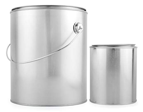 1 Gallon Empty Paint Can + 1 Quart Empty Paint Can (Combo 2-Pack); Unlined Metal Cans w/ Lids