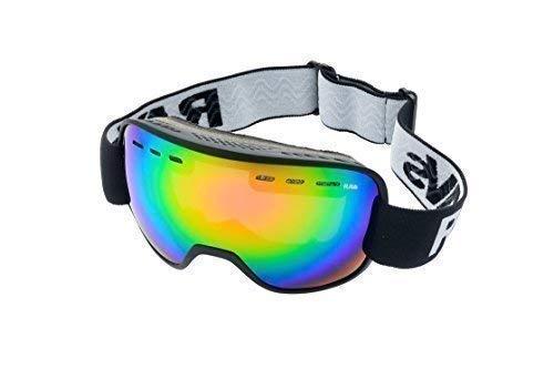 Ravs by Alpland Skibril veiligheidsbril - groot veiligheidsveld - glas 100% gespiegeld helder compatibel antifog spray dubbel glas - softbag