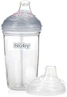 Nuby Soft Silicone Spout Drinking Feeding Cup made with Tritan For Kids and Toddlers- 6months+,300ml, Piece of 1