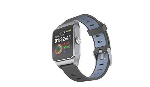 HolyHigh Reloj Inteligente Smartwatch Mujer Hombre Impermeable IP68 Pantalla Táctil Pulsera de Actividad Reloj Bluetooth con GPS Monitor de Ritmo Cardíaco Podómetro para iOS Android