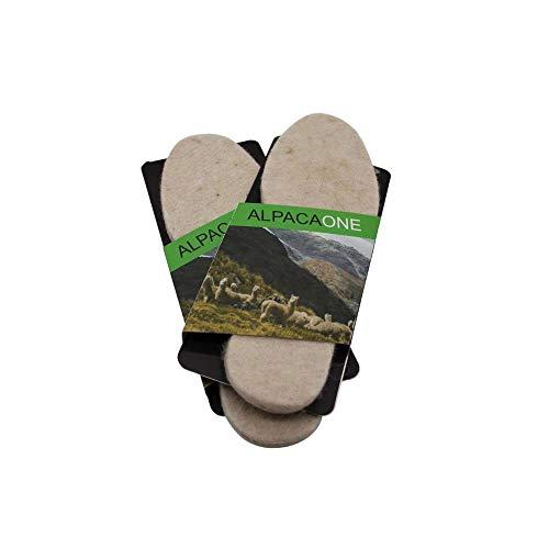 1 Paar Alpaka Schuhsohlen Schuheinlagen Einlegesohlen gefilzt für Damen und Herren