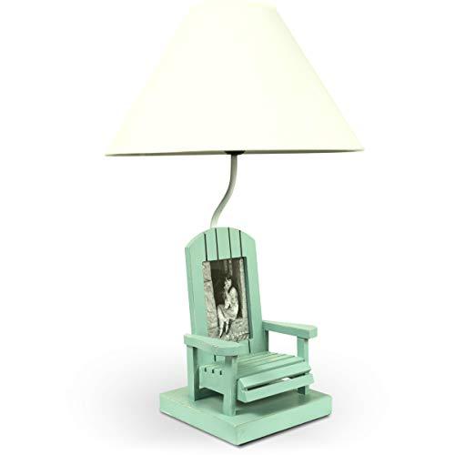 MOJO Tischleuchte Fotorahmen Lampe in Stuhldesign mit Schirm Tischlampe Höhe ca. 56cm ml76