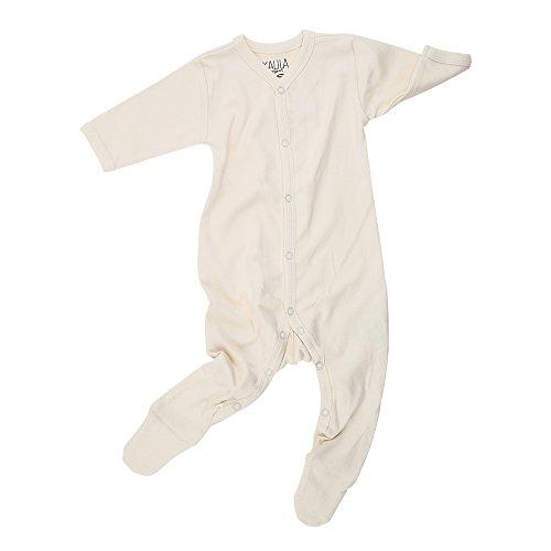 Kalila Organics vêtements Nouveau-né/bébé certifié Bio - Unisex Pyjama avec Pieds