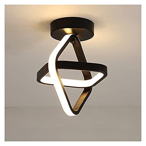 SRQOESFF Plafoniera Lampada corridoio a LED Lampada da soffitto Quadrata per Soggiorno Cloakroom Corridor Balcony Foyer Piccole plafoniere Nero 220V (Body Color : White, Size : Cool White)