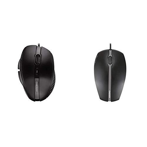 CHERRY Xero Corded Mouse Corded Mouse Black, JM-0120-2, schwarz & Maus CHERRY GENTIX Corded Optical Mouse Schwarz