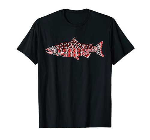 Salmon Native American Indian Pacific Northwest Coast Coho T-Shirt