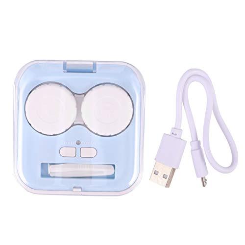 MILISTEN Kontaktlinsenreiniger Maschine Elektrische Kontaktlinsenkiste Augenpflege-Kit Kontaktlinsen-Reinigungssystem für Die Heimreise im Freien (Blau)