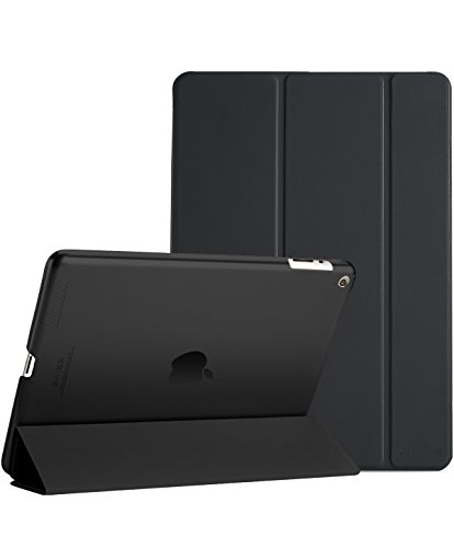 Procase iPad 2 3 4 Case (Old Model) – Ultra Slim Lightweight Stand Case with Translucent Frosted Back Smart Cover for Apple iPad 2/iPad 3 /iPad 4 –Black