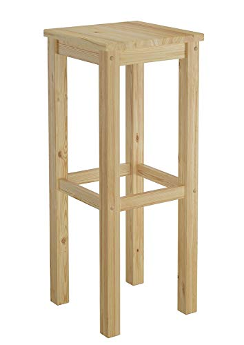 Erst-Holz® Barhocker Kiefer Massivholz Tresenhocker wählbar in 60cm oder 80cm 60.71-44-45, Länge:80 cm