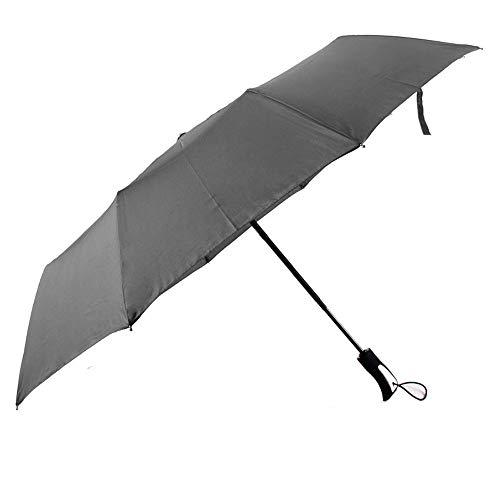 Paraguas Paraguas Paraguas plegable para mujeres de los hombres Medidas para la temporada de lluvias 190T 10 huesos Tres pliegues Ligero Combinación de lluvia y lluvia Paraguas repelente al agua Imper