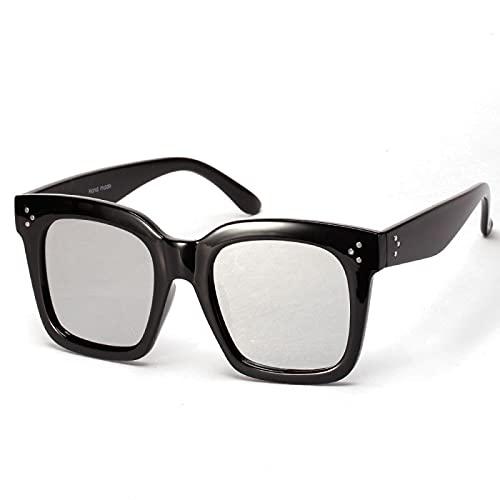 JINZUN Gafas Planas de Montura Grande Gafas de Sol de Moda Retro protección UV Plana Unisex