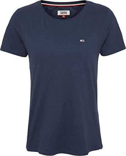 Tommy Jeans Tjw Soft Jersey tee Ropa Deportiva de Punto, Azul (Twilight Navy), 38 (Talla del Fabricante: Medium) para Mujer