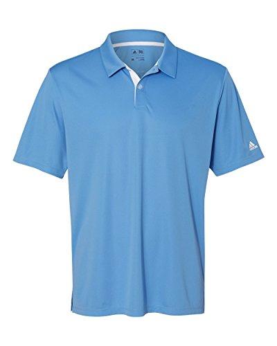 adidas Golf Mens Gradient 3-Stripes Polo (A206) -Lucky Blue -L