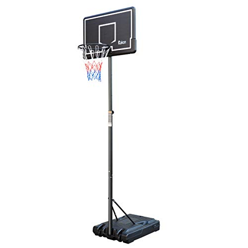Rakon Portable Basketball Hoop & Goal Basketball System Stand Height Adjustable 6.2ft -8.5ft with 35.4in Backboard & Wheels for Youth Kids Outdoor Indoor Basketball Goal Game Play
