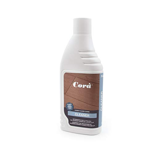 Corà Detergente Parquet Professionale - Pulizia Pavimento in Legno Verniciato/Oliato UV Oil - 1 LT. Cleaner