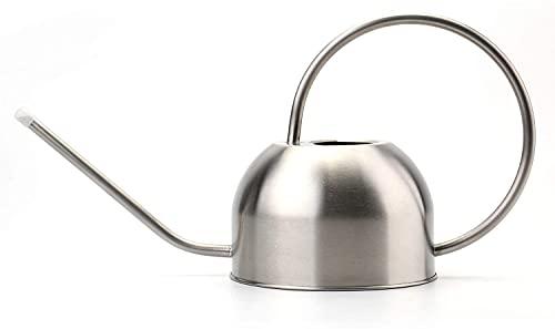 Bekith 1,5 Liter Edelstahl Gießkanne Metall Gießkanne Langer Ausguss für Pflanzen Büro Garten, Silber