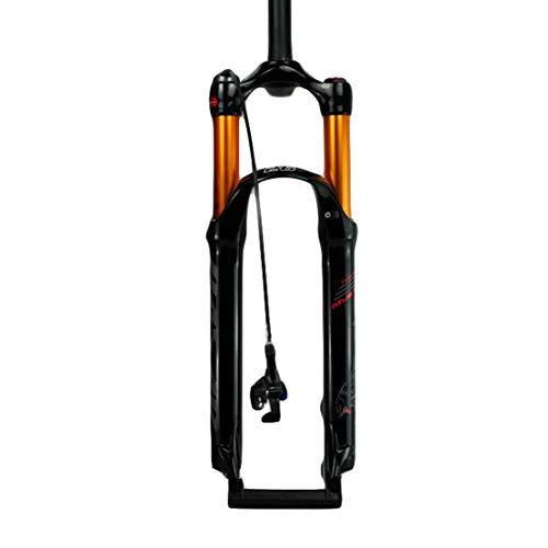 HIOD Bike Forks Air Suspension Shock Pump MTB Fork Straight Tube Mountain Bike Fork with Suspension Lock,B,29-inch