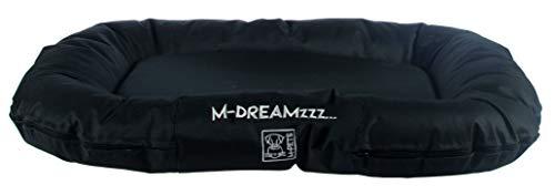 M-PETS Falster Kissen für Innen- und Außenbereich, aus gedrehtem Nylon, Schwarz, 80 x 60 x 12 cm