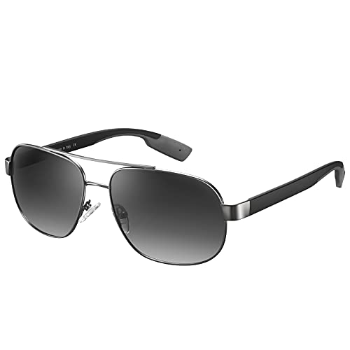 Carfia Gafas de Sol Hombre Polarizadas Piloto UV400 Protección Ultraligera para Conducir, Pescar, Ciclismo, Compras CA5377