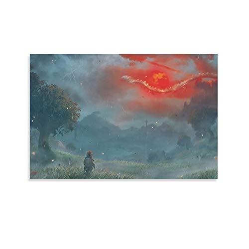 DRAGON VINES Póster de la leyenda de Zelda Volcano Wyvern Link Cool Wall Prints (20 x 30 cm)