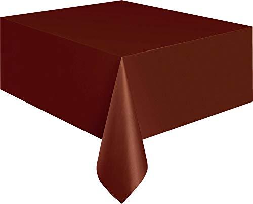 Unieke Party 5076 - bruin plastic tafelkleed, 9ft x 4.5ft