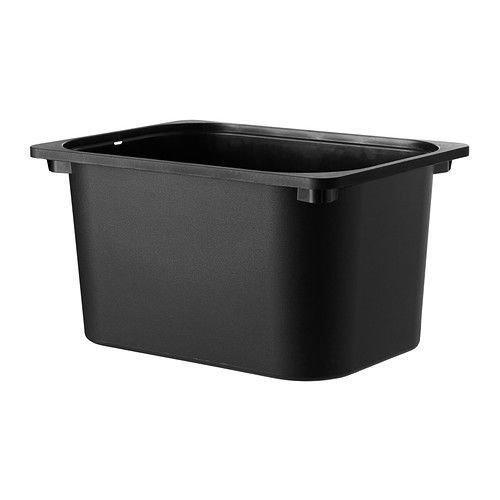 Juego de 2Ikea Trofast almacenamiento caja negro 102.525.73