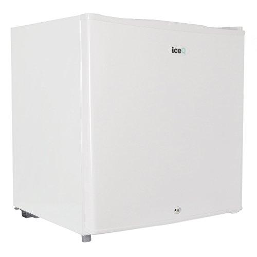 iceQ Mini-Kühlschrank für Getränke und Bier, abschließbar, 48 l, Weiß