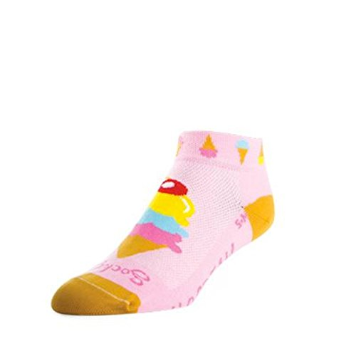 SockGuy Damen 1in I Scream Radfahren/Laufen Socken, Damen, I Scream, Medium