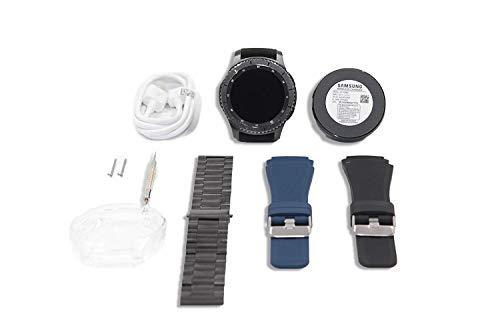 Samsung Gear S3 Frontier Smartwatch Dark Grey Premium Bundle - Extra Bands, Case, And Screen Protector Included (Renewed)