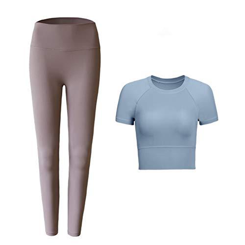 JHC Yoga-Kleidung, professionelle Fitness-Sportanzüge, läuft schnell trocknende Kleidung;34 (110lb), 36 (121lb), 38 (132lb), 40 (143lb) (Color : Blue, Size : 36)