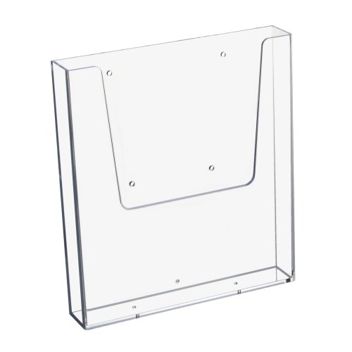 Soporte de pared para folletos vertical para DIN A4, transparente