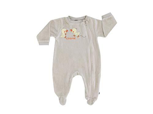 Jacky Unisex Wagenanzug aus Nicki, Süßes Enten-Motiv, Größe: 44, Alter: ab der Geburt, Beige, 320055