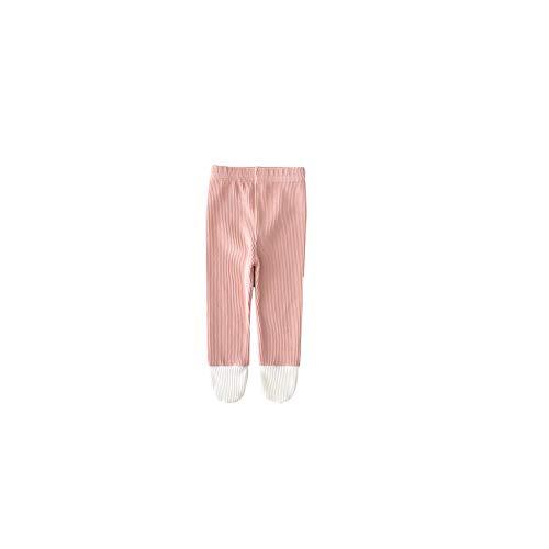 Kleinkind Weiche Strumpfhosen Baby-Gamaschen Baumwolle Leichtfüßig Stocking Winter Stricken Warme Hosen Für Neugeborene Kleinkinder 90cm Rosa