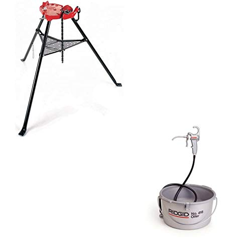 "Ridgid 36273 6"" Portable Tristand Chain Vise ; Ridgid 10883 Oiler"