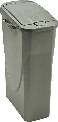 M-Home PLS8083-29 - Cubo de basura (polipropileno, 42 x 25 x 61,5 mm), color gris