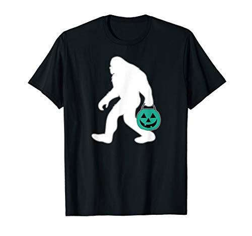 Halloween Food Allergy Shirt Teal Pumpkin Bucket Bigfoot T-Shirt