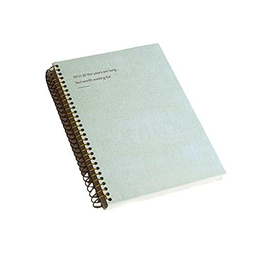 Binn Diario Cuaderno de círculo de Hoja Suelto, revistas de portátiles de Tapa Dura, Diario de Papel Grueso de Primera Calidad, para Oficina Escolar, 6 Estilos Disponibles Sketchbook (Color : Green)